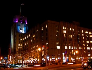 Landmark Center at Night