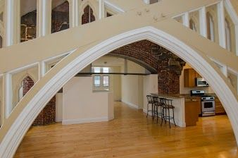 Click for 1 of a Kind Duplex 3 Bed Loft in Converted Church slideshow